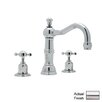 Rohl Perrin and Rowe Double Handle Widespread Bathroom Faucet with Pop-Up Drain and Cross Handle