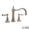 Rohl Georgian Era Double Handle Widespread Bathroom Faucet with Capped Lever Handle and Pop-Up Drain