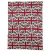 In2Green Eco Designer Vintage Union Jack Throw Blanket