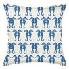 Greendale Home Fashions Seahorse Repeat Cotton Canvas Throw Pillow