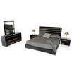 VIG Furniture Platform 5 Piece Bedroom Set