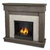 Real Flame Cast Mantel Cascade Wall Mount Gel Fuel Fireplace