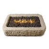 Real Flame Limestone Propane Fire Pit