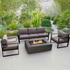 Real Flame Baltic 2 Piece Seating Group with Cushion