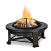 Real Flame Steel Wood Fire Pit