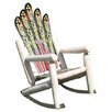 Ski Chair Ski Adirondack Log Rocker