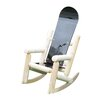 Ski Chair Children's Snow Board Log Rocking Chair