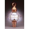 Northeast Lantern Onion 1 Light Caged Round Post Lantern