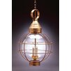 Northeast Lantern Onion 3 Light Outdoor Hanging Lantern