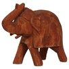 BIDKhome Fall Wood Elephant Figurine