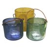 BIDKhome 3 Piece Glass Lantern Set