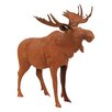 BIDKhome Metal Moose Figurine