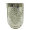 BIDKhome Small Square Diamond Frost Hurricane/Vase (Set of 4)