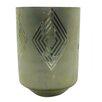 BIDKhome Large Square Diamond Frost Hurricane/Vase
