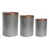 BIDKhome 3 Piece Round Pot Planter Set