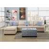 Poundex Bobkona Cayden Reversible Chaise Sectional