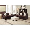 Poundex Bobkona Barrie Microsuede Sofa and Loveseat Set