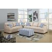 Poundex Bobkona Montega Microfiber Sofa and Loveseat Set