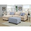 Poundex Bobkona Roman Reversible Chaise Sectional