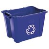 Rubbermaid Commercial Products 14-Gal Stacking Rectangular Curbside Recycling Bin