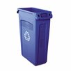 Rubbermaid Commercial Products Slim Jim® Plastic Recycling 23-Gal Curbside Recycling Bin