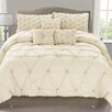 Luxury Home Cosmo 6 Piece Smocked Comforter Set