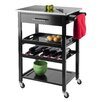 Luxury Home Anthony Stainless Steel Kitchen Cart
