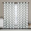Luxury Home Athens Curtain Panel (Set of 2)