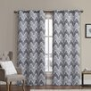 Luxury Home Marlie Curtain Panel (Set of 2)