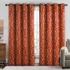 Luxury Home Becket Curtain Panel (Set of 2)