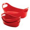 Rachael Ray Bubble & Brown Bakeware 3 Piece Oval Baking Dish Set