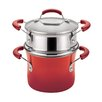 Rachael Ray Porcelain Nonstick 3 Qt. Covered Multi-Pot