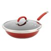 "Rachael Ray Stainless Steel Colors 12"" Non-Stick Skillet with Lid"