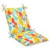 Pillow Perfect Paint Splash Outdoor Chair Cushion