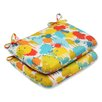 Pillow Perfect Paint Splash Outdoor Seat Cushion (Set of 2)
