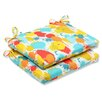 Pillow Perfect Paint Splash Outdoor Seat Cushion (Set of 2)