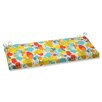 Pillow Perfect Paint Splash Outdoor Bench Cushion
