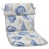 Pillow Perfect Sealife Outdoor Lounge Chair Cushion