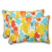 Pillow Perfect Paint Splash Indoor/Outdoor Throw Pillow (Set of 2)