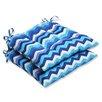 Pillow Perfect Panama Wave Outdoor Seat Cushion (Set of 2)