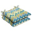 Pillow Perfect Zig Zag Outdoor Dining Chair Cushion (Set of 2)