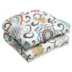 Pillow Perfect Pom Pom Play Outdoor Seat Cushion (Set of 2)