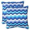 Pillow Perfect Panama Wave Indoor/Outdoor Throw Pillow (Set of 2)