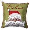 Pillow Perfect Christmas Santa Believe Throw Pillow