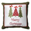 Pillow Perfect Merry Christmas Trees Throw Pillow