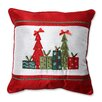 Pillow Perfect Christmas Trees and Presents Throw Pillow