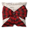 Pillow Perfect Holiday Plaid Bowknot Throw Pillow