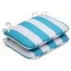Pillow Perfect Cabana Stripe Outdoor Dining Chair Cushion (Set of 2)
