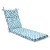 Pillow Perfect New Geo Chaise Outdoor Chaise Lounge Cushion