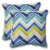 Pillow Perfect Marquesa Marine Indoor/Outdoor Throw Pillow (Set of 2)